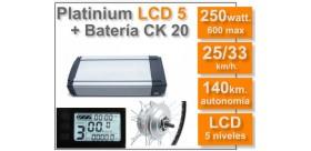 KIT Platinium LCD5 + Batería CK 36 v. 20 Ah.